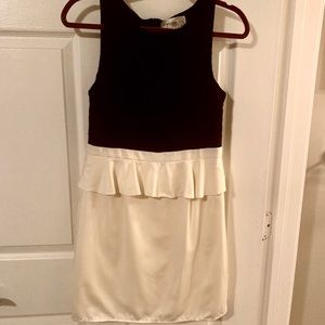 Black and cream peplum dress